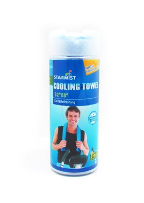 """Picture of Cooling Towel 32""""x 8"""" Blue"""