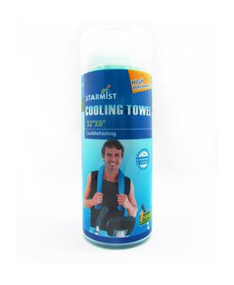 """Picture of Cooling Towel 32""""x 8"""" Green"""
