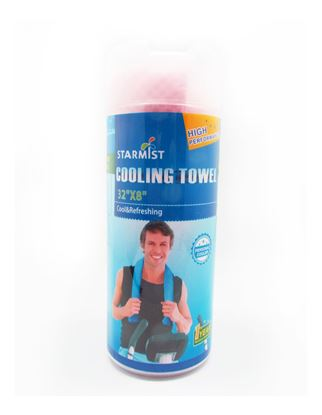 """Picture of Cooling Towel 32""""x 16"""" Pink"""